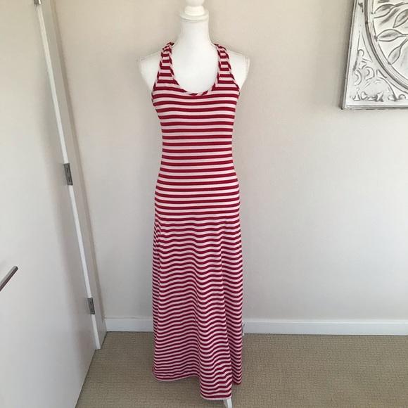 True Rock Striped Maxi Dress, M